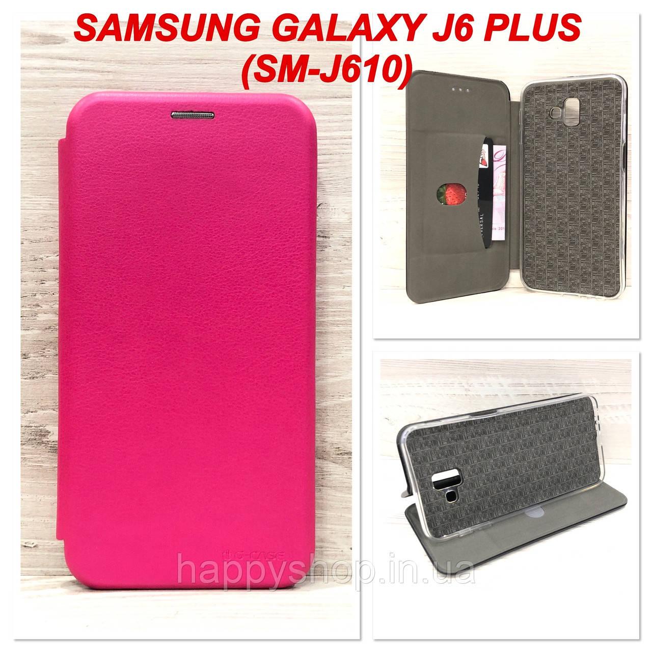 Чехол-книжка G-Case для Samsung Galaxy J6 Plus 2018 (J610) Розовый