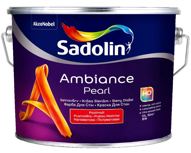 Краска акрилатная SADOLIN AMBIANCE PEARL интерьерная белый (база ВW) 10л