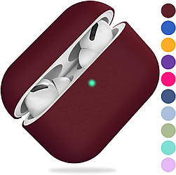 Чохол для навушників Silicone Case for AirPods Pro - Color Burgundy