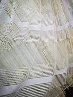 Тюль фатин белый с тонкой полосой Margaret