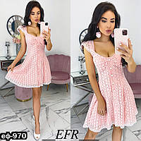 Женское стильное хлопковое платье Разные цвета, фото 1