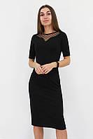 S, M, L, XL | Жіноче вечірнє плаття з сіточкою Tiana, чорний