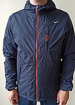 Куртка Nike синя з червоним