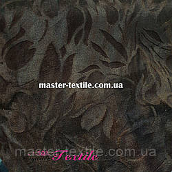 Велюр с рисунком (коричневый)