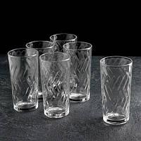 """Набір склянок 230 мл 5с 1259 У-6 """"Етюд"""" 6 шт ."""