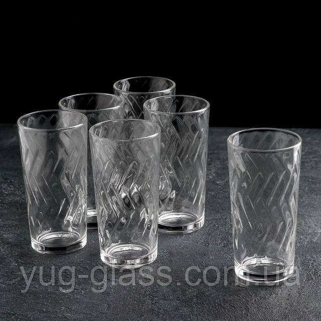 Набор высоких стаканов для воды
