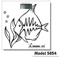 Электронные весы для ванной комнаты Momert (Рыба)  Модель 5854