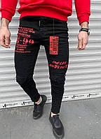 Мужские джинсы Mariano 992 black/red