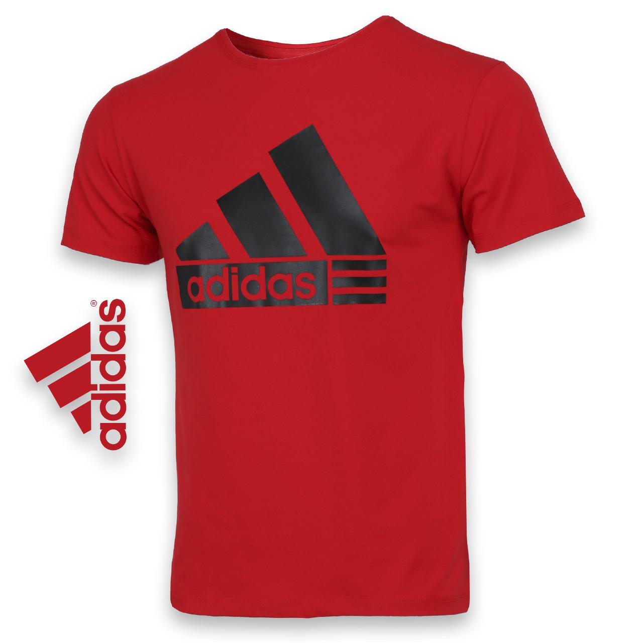 Футболка спортивная красный ADIDAS пирамида Ф-10 RED XXL(Р) 20-911-020
