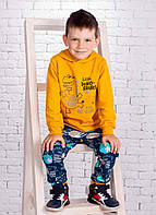 Костюм для мальчика Дино с объёмными элементами на капюшоне 92-116 р
