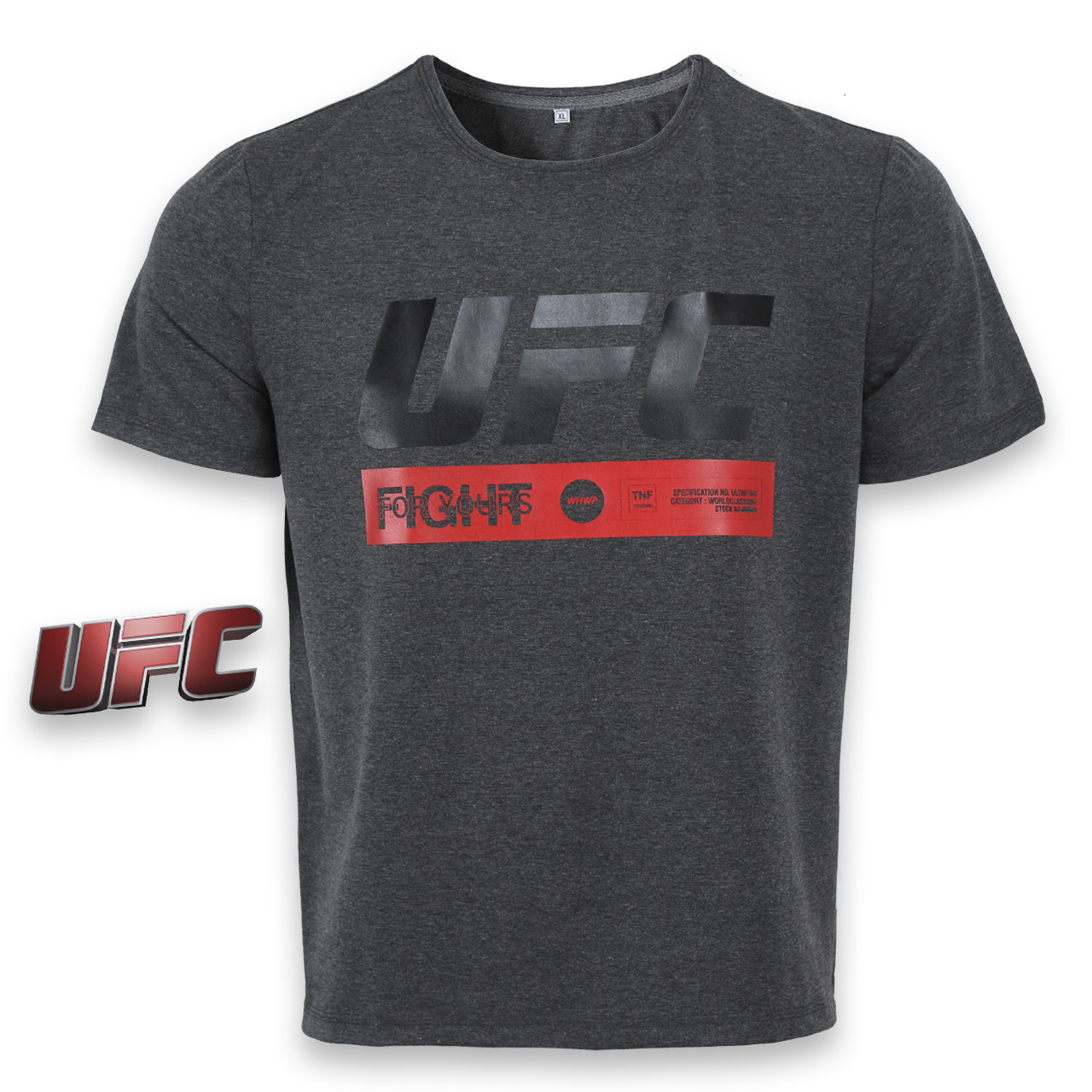 "Футболка спортивная антрацит UFC ""FIGHT"" Ф-10 ANTR L(Р) 20-914-020"