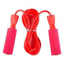 Скакалка с неопреновыми ручками иподшипниками для спорта с PVC жгутом Zelart (l=2,6м, d=4мм)