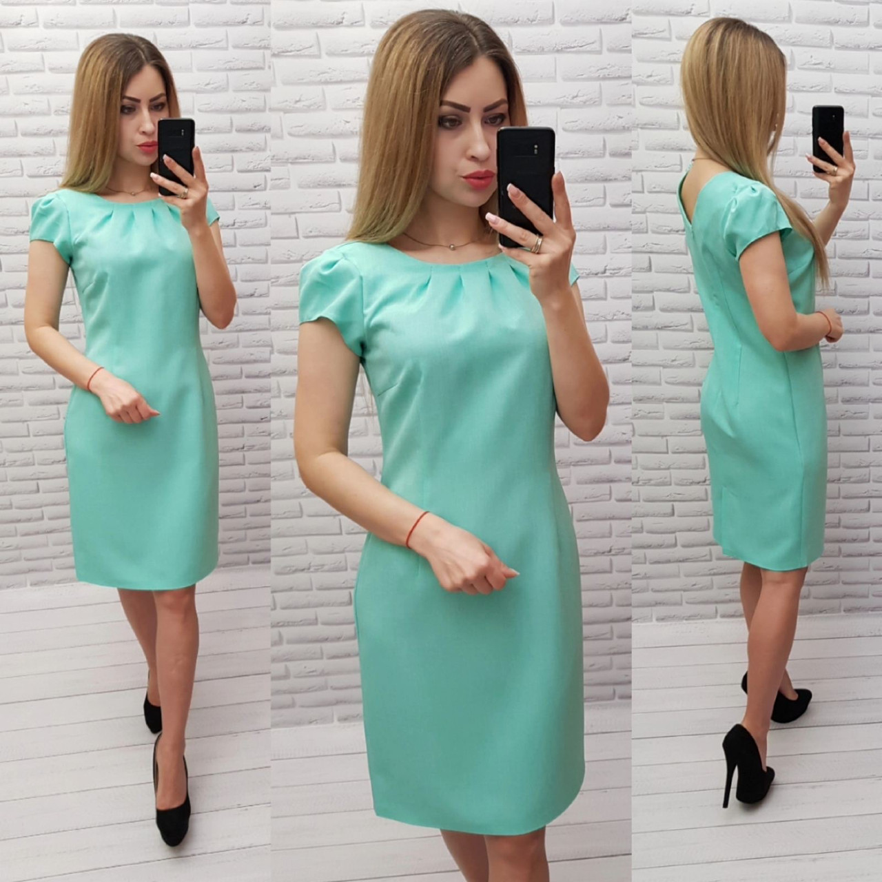 Платье женское, цвет:бирюза