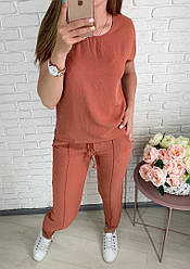 Костюм брючный женский летний с блузой 42-44,46-48,50-52,54-56
