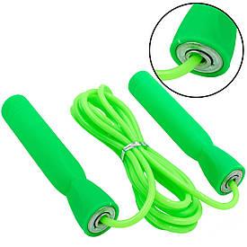 Скакалка для фитнеса и похудения с подшипниками и PVC жгутом (l=2,6м, d=4мм) разные цвета