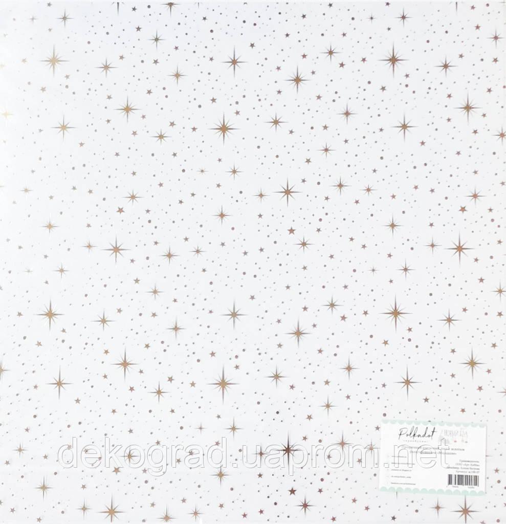 """Прозрачный ацетатный лист с золотым фольгированием """"Мерцание"""", коллекция """"Новый кот"""", размер 30,5 х 30,5 см"""