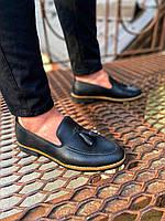 Чоловічі лофери FL 40 black, фото 1