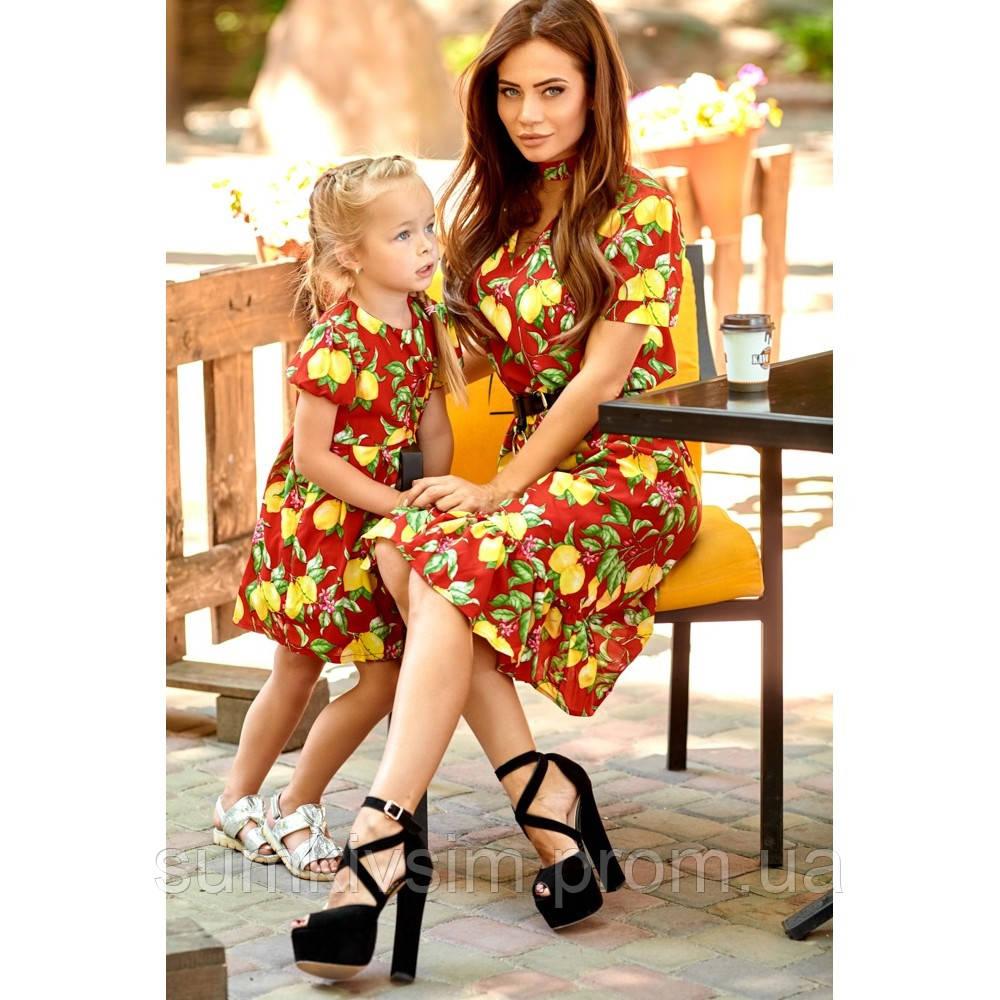 Комплект платья Мама и дочка