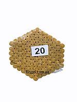 Восковые церковные свечи №20 - 100 шт/пачка. Диаметр - 9.5 мм. Высота - 30 см.