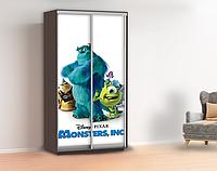 Виниловая наклейка для шкафа с монстрами в детскую, двери, стены 240 х 100 см с защитной ламинацией