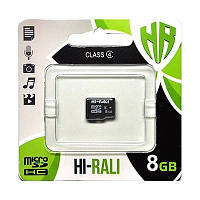 Карта памяти MicroSDHC 8GB Class 4 Hi-Rali (HI-8GBSDCL4-00)