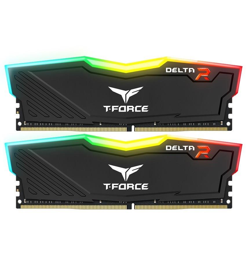 Модуль памяти DDR4 2x16GB/3200 Team T-Force Delta Black RGB (TF3D432G3200HC16CDC01)
