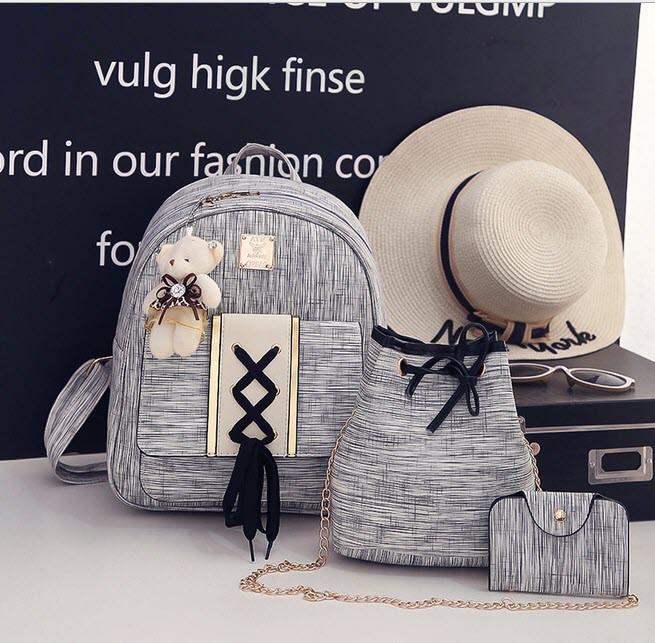 Восхитительный набор оригинального дизайна, рюкзак, сумка, визитница