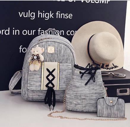 Восхитительный набор оригинального дизайна, рюкзак, сумка, визитница, фото 2