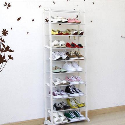 Полка на 30 пар обуви органайзер с 10 полками Amazing Shoe Rack, фото 2