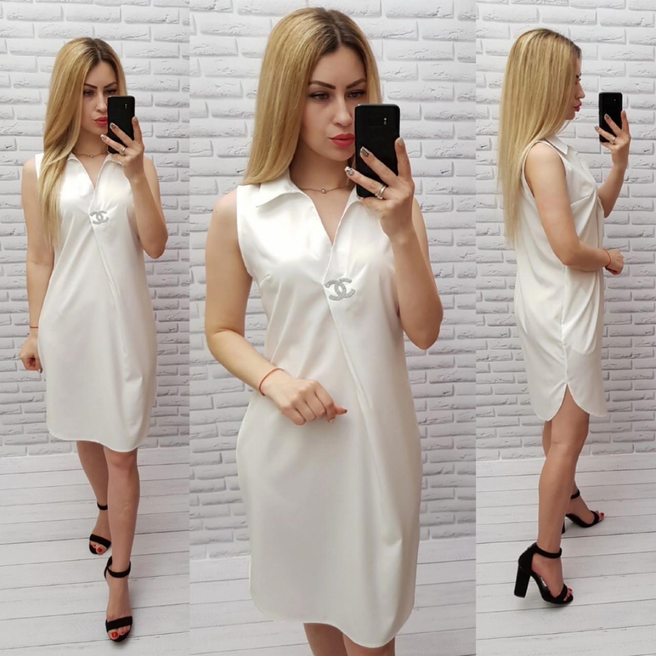 Платье женское, цвет:молоко