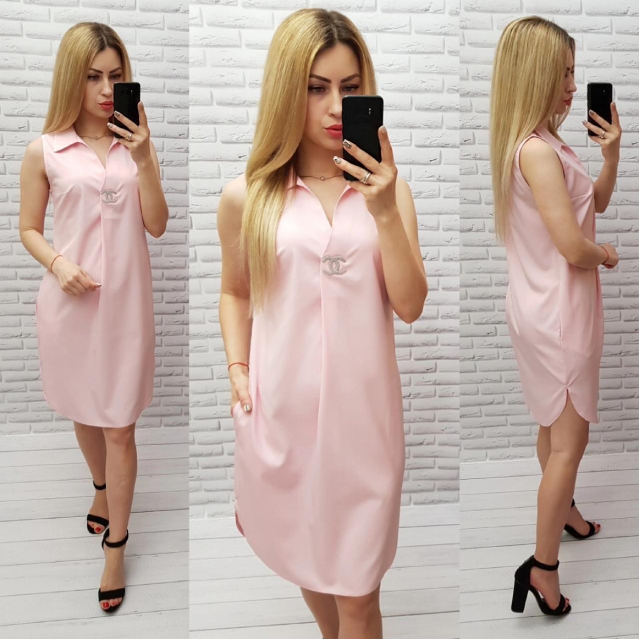 Платье женское весна/лето, без рукавов