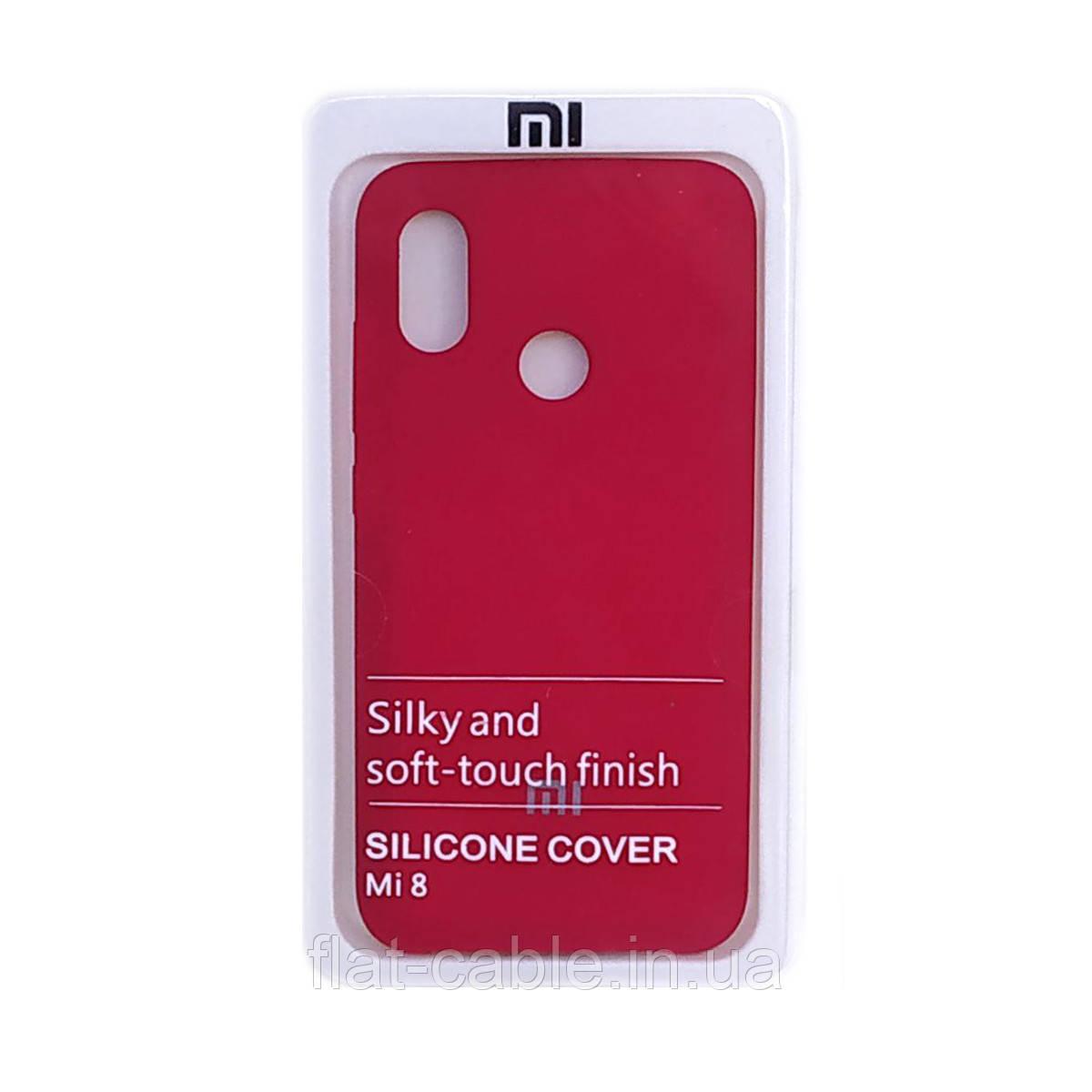 Чехол на Xiaomi Mi 8 (Bordo) Silicone Case