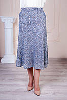 Лёгкая юбка с карманами батал, фото 1
