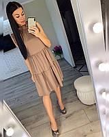 Платье женское 1058 (42/46 универсал) (цвета: белый, мокко, пудра, нежно оливковый) СП, фото 1