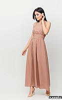 Стильное женское летнее платье длинное с открытой спиной