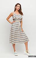 Красивое женское летнее платье в полоску