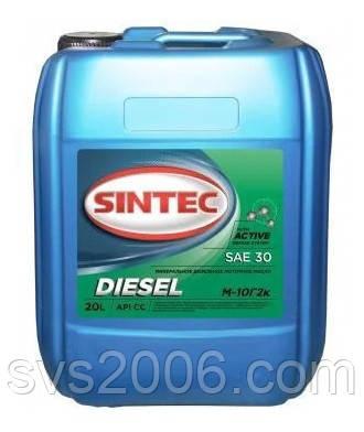 Масло моторне SINTEC, М-10Г2к, Дизеленыйь API CC, 20л, хв