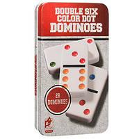 """Домино """"Double Six Color Dot"""" (в металлической коробке)(для компаний, развлекательная), фото 1"""
