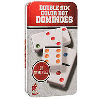 """Настільна гра """"Доміно (Double Six Color Dot)"""" (для компаній, розважальна), фото 1"""