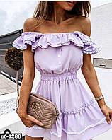 Женское стильное летнее платье свободного силуэта с воланами Разные цвета, фото 1