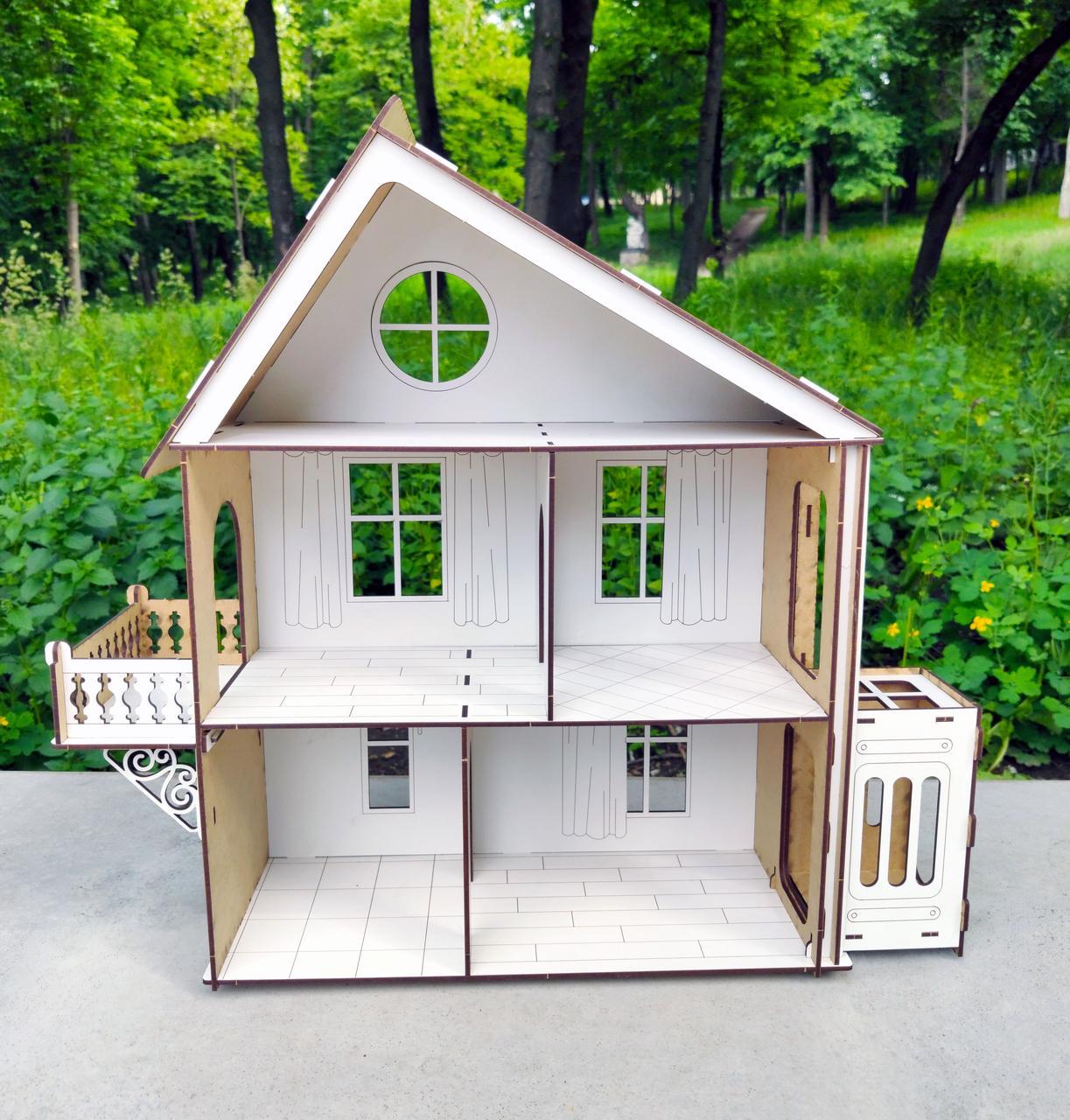 Деревянный кукольный Домик DaBo Home для LOL c лифтом