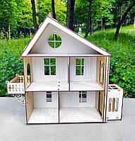 Деревянный кукольный Домик DaBo Home для LOL c лифтом, фото 1