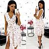 Платье женское 1350-12 (S-M(42-44); L-XL(46-48) (цвета: красный, черный, белый) СП