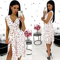 Платье женское 1350-12 (S-M(42-44); L-XL(46-48) (цвета: красный, черный, белый) СП, фото 1