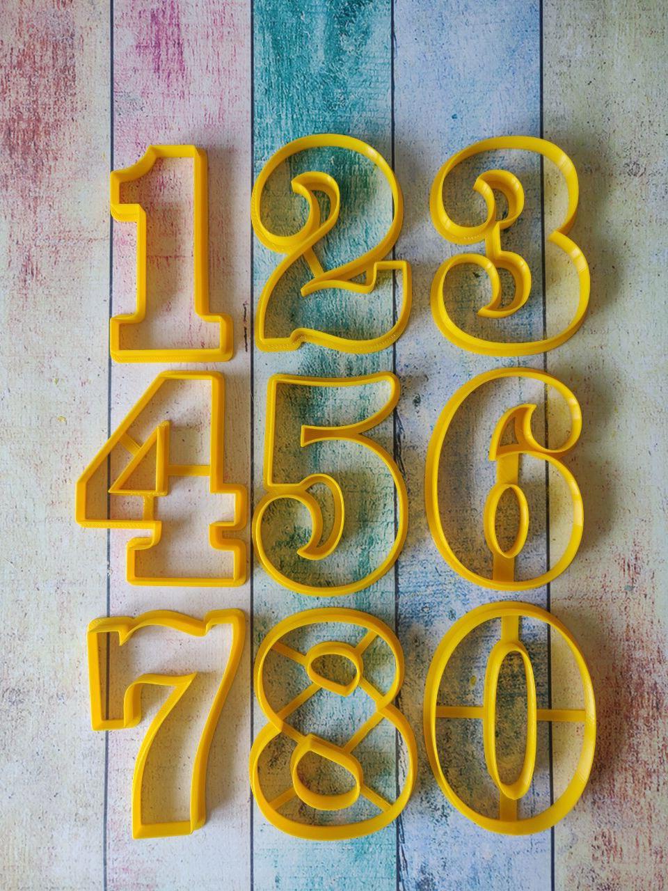Формочки для пряников, вырубки Цифры №14