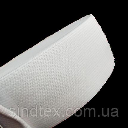 Широкая бельевая резинка для одежды Sindtex белая 6 см х 22,5 м (СИНДТЕКС-0059), фото 2
