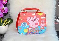 Розовая детская сумочка Свинка Пеппа, фото 1