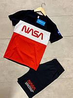 Спортивный костюм мужской nasa / шорты + футболка