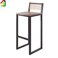 Стул барный Loft Авангард черный матовый, стул барный, стул для кафе, стул металлический