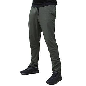 Летние мужские прямые спортивные штаны плащевка хаки стрейч (Реплика)